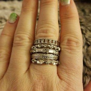 Torrid stack of rings, size 8